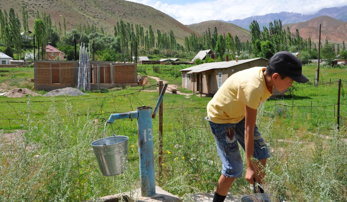 Water Supply in Kyzyl-Oi, Kyrgyzstan, 2016, Kateřina Zäch-Kozlová (PhD Student in Human Geography – University of Fribourg, Switzerland). I focused on daily use of public wells and everyday experiences with them in terms of their social and cultural water value. I explained from a cultural-historical perspective that the way people think about wells as material objects and what they connect to them shapes their subjective perception, as well their understanding of wells. In this perspective, wells embody individual thoughts, reminiscences and collective memories of local people. They are an important part of local Kyrgyz culture and water history.