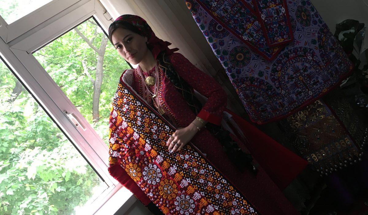 "Snejana Atanova, Turkmenistan, 2018 Turkmen wedding, Ashgabat, May 2018. A Turkmen bride in traditional dress -koynek and kurte. This photo was taken during my fieldwork on ""National identity in everyday life in Kyrgyzstan and Turkmenistan""."